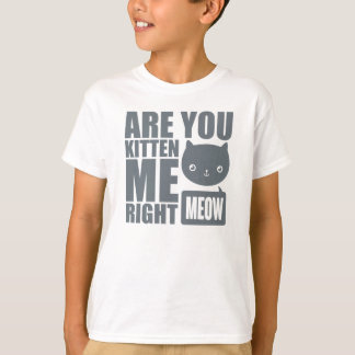Are You Kitten Me Right Meow Kids T shirt