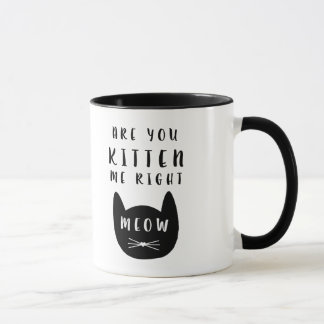 Are you Kitten me right Meow?  Mug