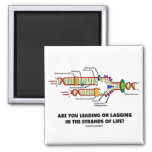 Are You Leading Or Lagging In The Strands Of Life? Square Magnet