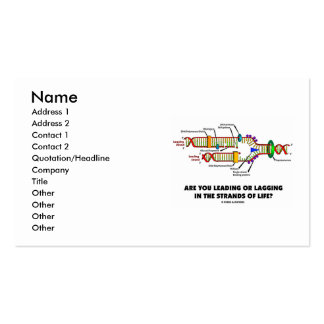 Are You Leading Or Lagging In The Strands Of Life? Pack Of Standard Business Cards