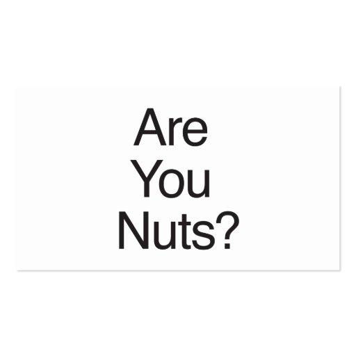 Are You Nuts? Business Card Templates
