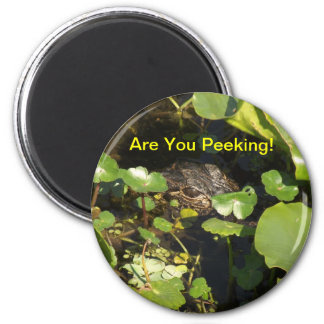Are You Peeking! 6 Cm Round Magnet
