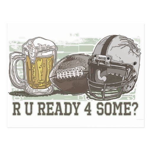 Are You Ready for Football Postcard