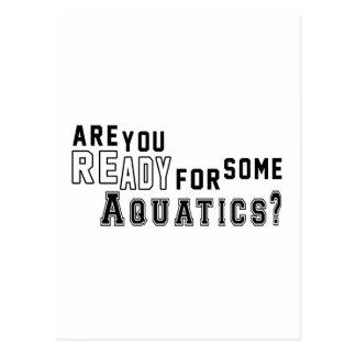 Are you ready for some Aquatics Postcard