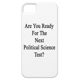 Are You Ready For The Next Political Science Test. iPhone 5 Cover