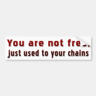 Are you really free? bumper sticker