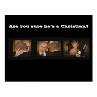 Are you sure he's a Christian? Postcard