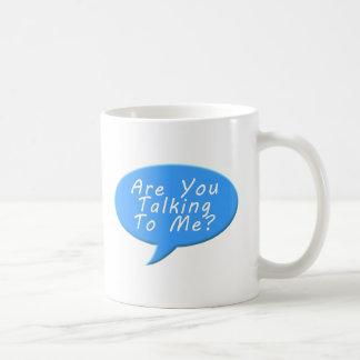 Are you talking to me basic white mug