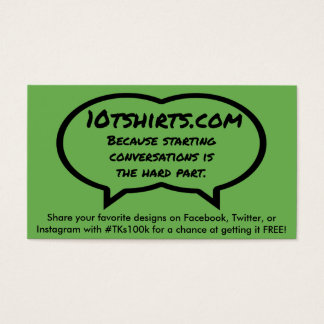 Are you the one? business card