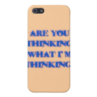 Are You Thinking What I'm Thinking? blu Cover For iPhone 5/5S