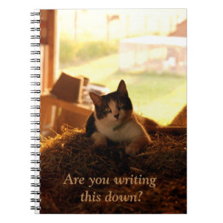 Are You Writing This Down Farm Cat Notebook