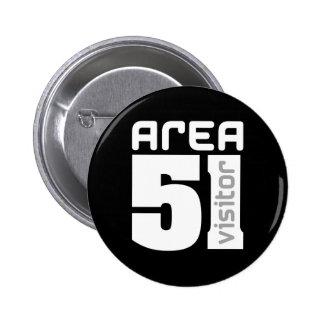 Area 51 Alien Visitor 6 Cm Round Badge