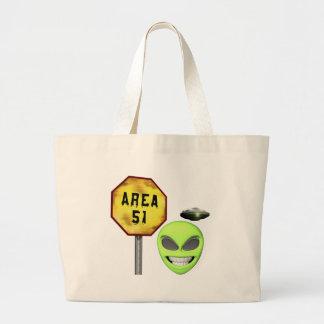Area 51 Aliens Jumbo Tote Bag
