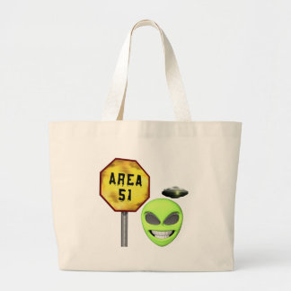 Area 51 Aliens Canvas Bags