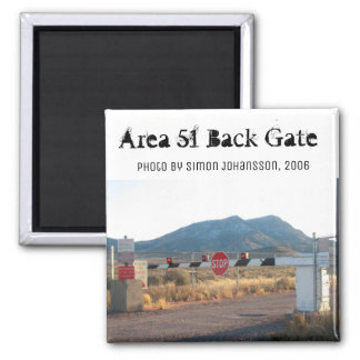 Area 51 Back Gate Photo Magnet