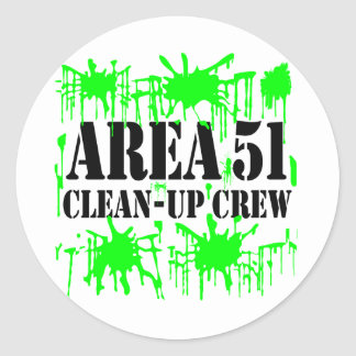 Area 51 Clean-Up Crew Classic Round Sticker
