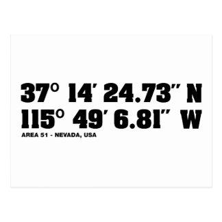 AREA 51 - coordinates Postcard