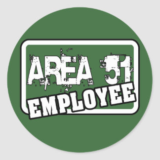 AREA 51 Employee Sticker
