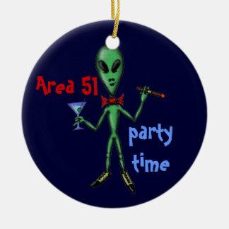 Area 51 funny cool party alien ornament design