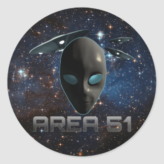 Area 51 round sticker