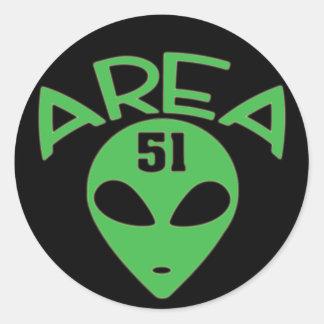AREA 51 ROUND STICKER