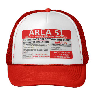 Area 51 Sign Cap