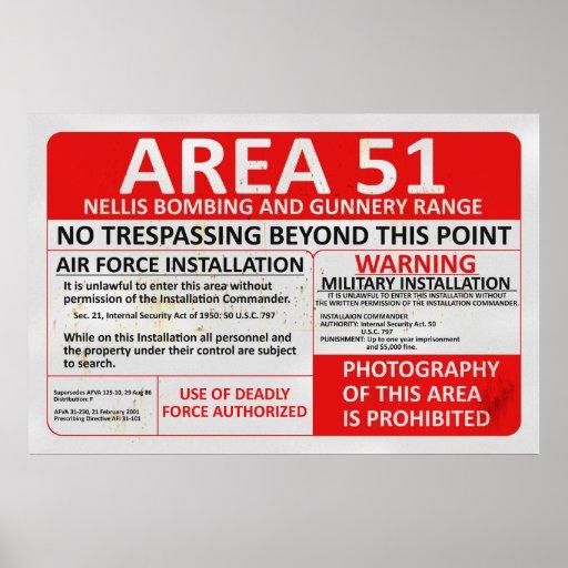 Area 51 Sign Print