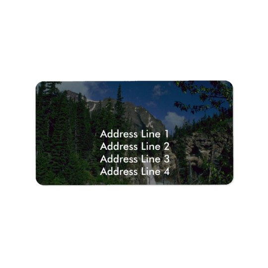 Area Of Mountain Trees Address Label