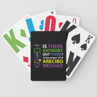 ARECIBO MESSAGE BICYCLE PLAYING CARDS
