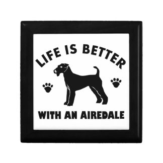 aredale terrier dog design small square gift box
