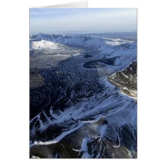 areial view of aniakchak caldera alaska card