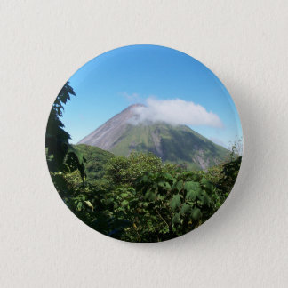 arenal volcano 6 cm round badge