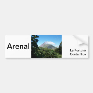 arenal volcano bumper sticker
