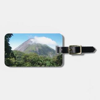 arenal volcano luggage tag