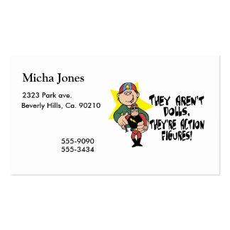 Aren't Dolls But Action Figures Pack Of Standard Business Cards