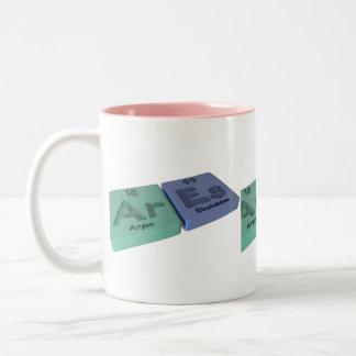 Ares as Ar Argon and Es Einsteinium Coffee Mug