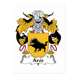 Ares Family Crest Postcard