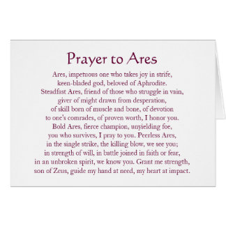 Ares Notecard Note Card
