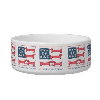 Arfs & Stripes Forever Pet Dish Pet Bowls