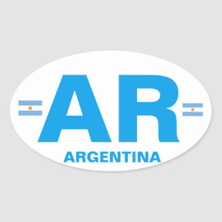 Argentina AR Euro-style Oval Sticker