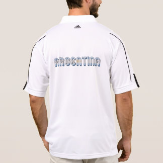 Argentina Argentine Flag Colors Typography Polo Shirt