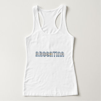 Argentina Argentine Flag Colors Typography Singlet