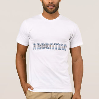 Argentina Argentine Flag Colors Typography T-Shirt