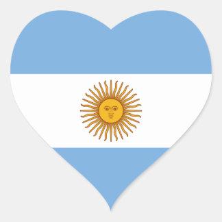 Argentina/Argentine Heart Flag Heart Sticker