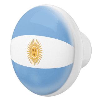 Argentina Argentinian Flag Ceramic Knob