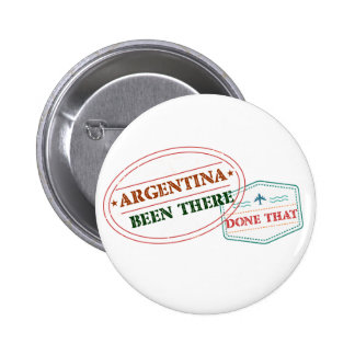 Argentina Been There Done That 6 Cm Round Badge