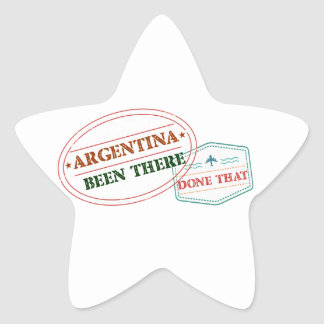 Argentina Been There Done That Star Sticker
