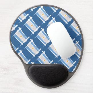 Argentina Brush Flag Gel Mouse Mat