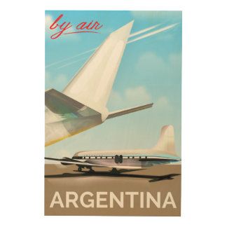 "Argentina ""By Air"" vintage flight poster"