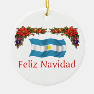 Argentina Christmas Ceramic Ornament